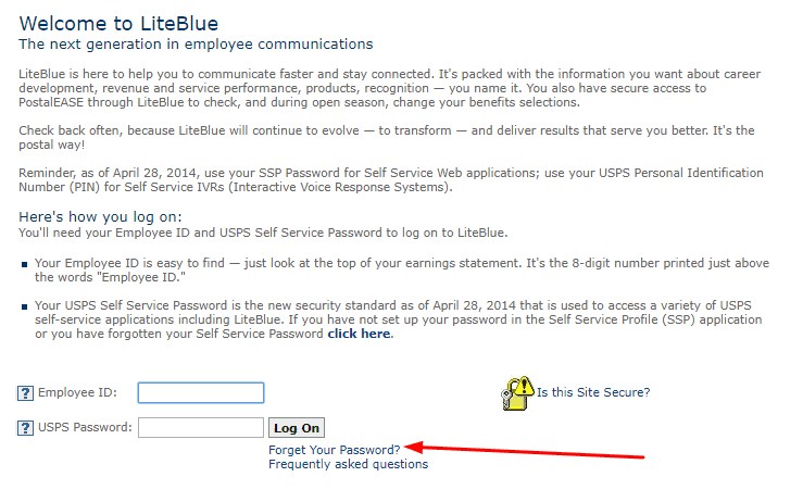 Liteblue employee account registration and login