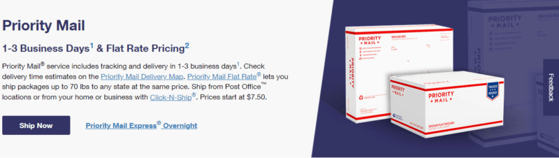 USPS Pricing and Other information about Priority Mail